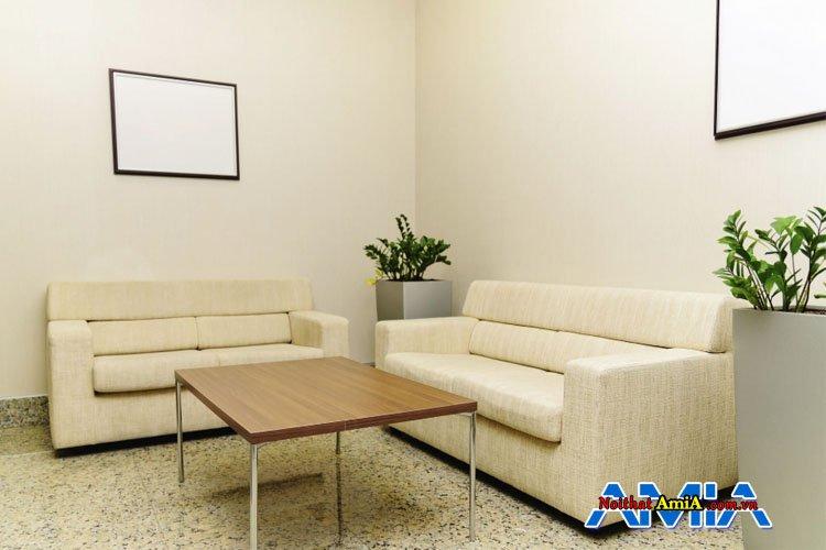 Bộ bàn ghế sofa màu be sữa trẻ trung