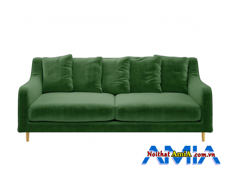 Hình ảnh mẫu sofa đẹp màu xanh rêu trẻ trung hiện đại