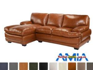 bộ sofa da microfiber màu nâu da bò AmiA SF1992133