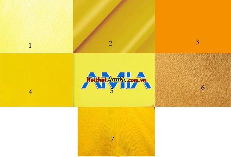 Hình ảnh những sofa màu vàng có thể làm từ những tone khác nhau