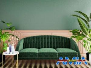 Hình ảnh ghế sofa văng 3 chỗ lưng tựa may dọc