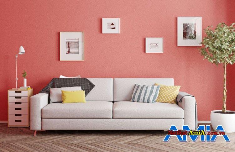 Hình ảnh mẫu ghế sofa màu trắng thiết kế dạng ghế văng 2 chỗ đẹp