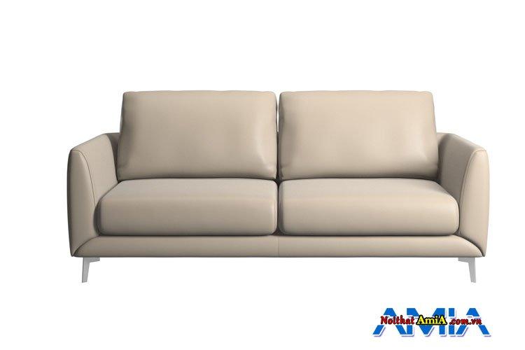 Mẫu ghế sofa da kê không gian nhỏ màu kem be