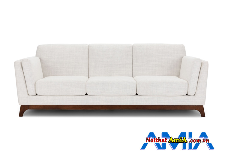 Sofa văng 3 chỗ đẹp màu trắng tinh