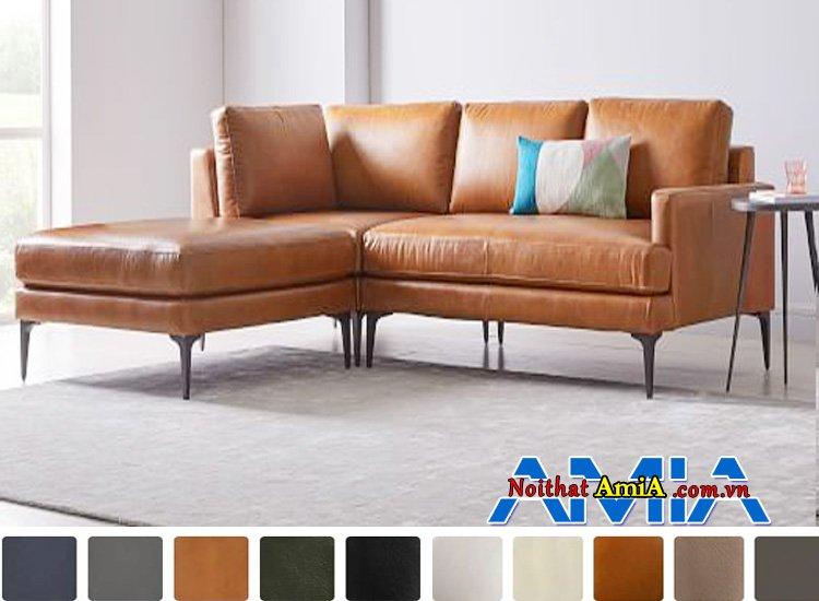 ghế sofa da microfiber đẹp góc L