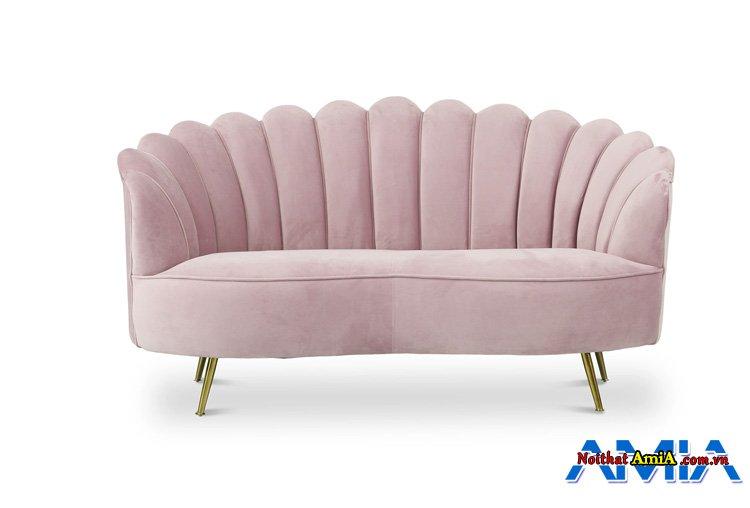 Ghế sopha đẹp màu hồng phấn trẻ trung
