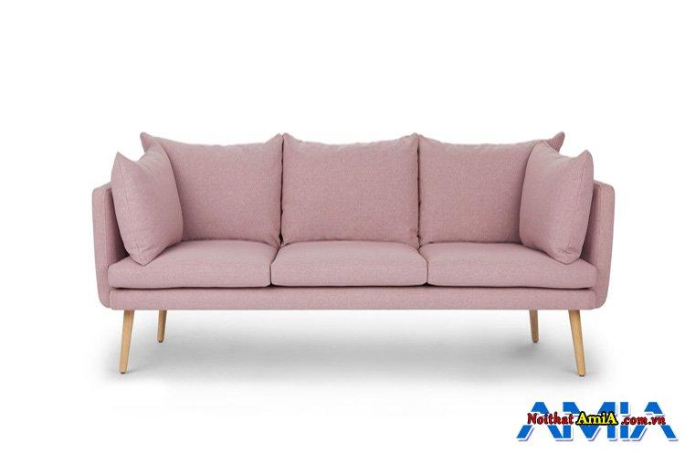 Hình ảnh mẫu ghế sopha văng 3 chỗ màu tím nhạt hiện đại
