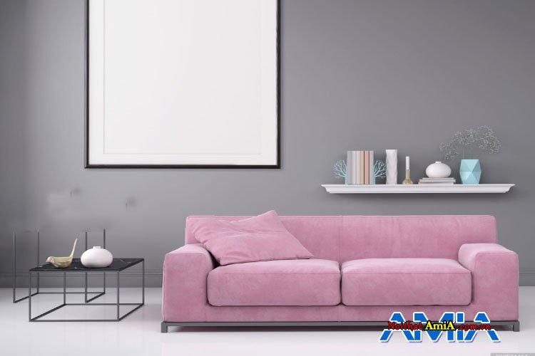 Ghế sopha văng 2 chỗ màu tím nhạt giá rẻ