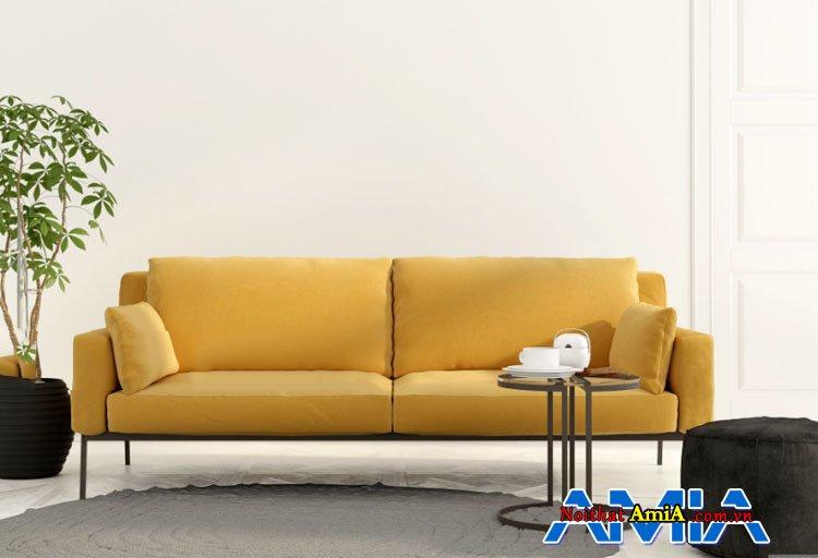 Bộ ghế sofa màu vàng đậm phong cách trẻ trung
