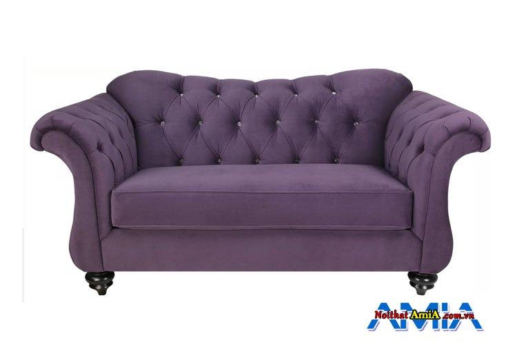 Ghế sopha nỉ màu tím hiện đại