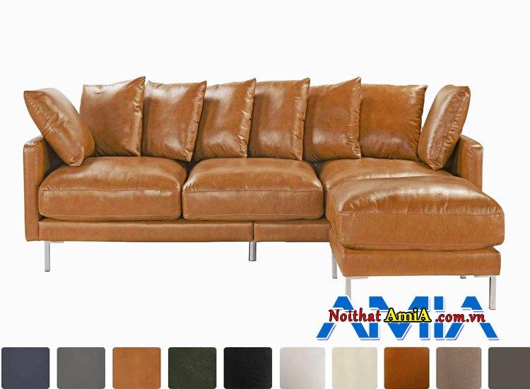 bộ ghế sofa da công nghiệp Microfiber AmiA SF1992139