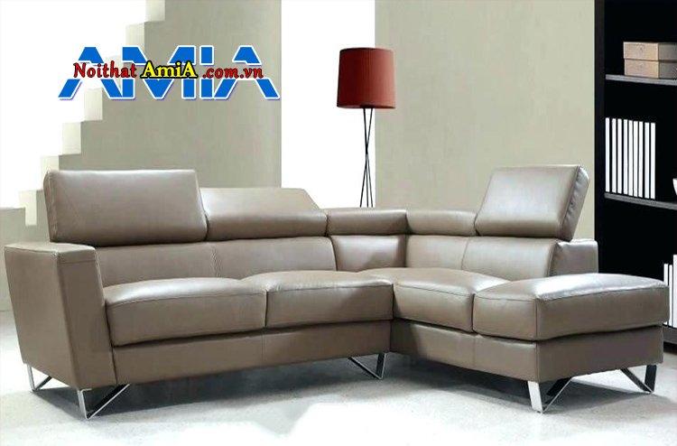 sofa da công nghiệp Microfiber góc L AmiA SF1992119
