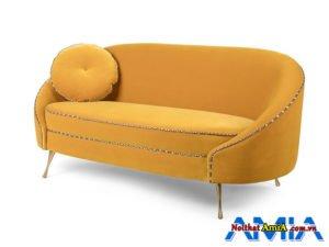 Sopha thiết kế dạng vòm cung hiện đại sử dụng màu vàng