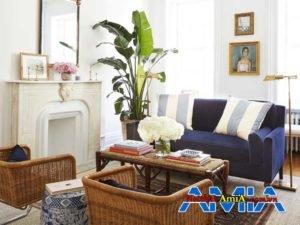 ban ghe sofa mau xanh dep cho nha chung cu nho AmiA SFN140220206