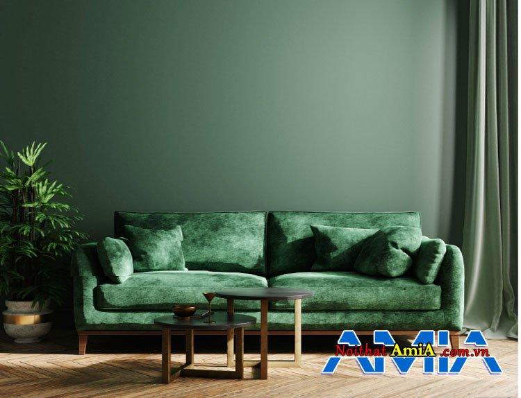 Thông tin bộ bàn ghế sofa màu rêu kê phòng khách đẹp