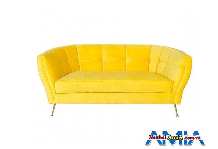 Hình ảnh mẫu sopha văng màu vàng hanh xịn trẻ trung