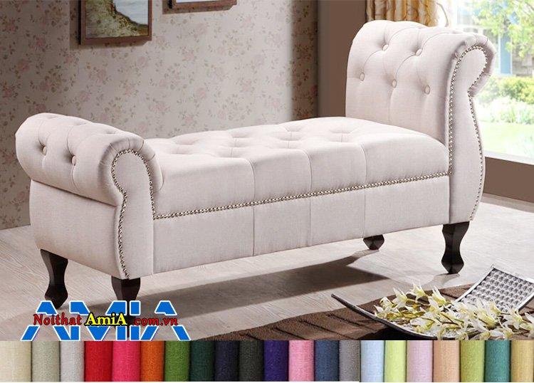 Hình ảnh Sofa nỉ nhập khẩu Malaysia cao cấp tân cổ điển