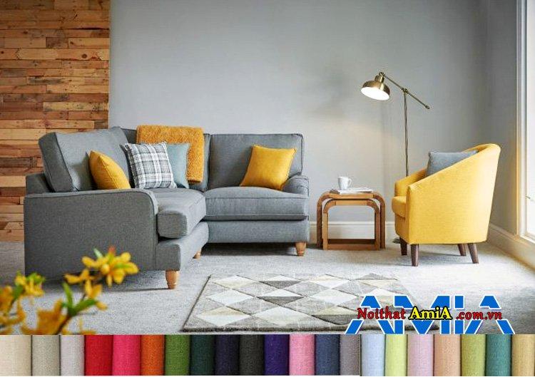 Hình ảnh Sofa nỉ góc nhập khẩu Malaysia nhỏ gọn