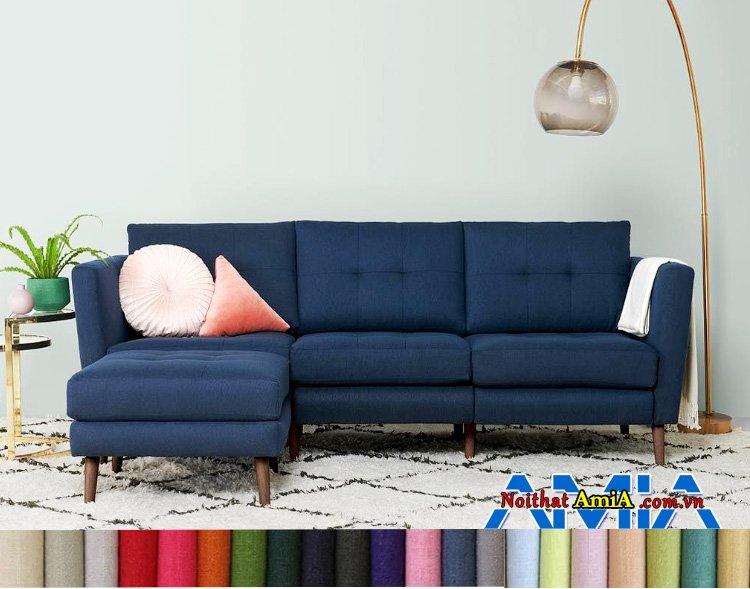 Hình ảnh sofa nỉ nhập khẩu Malaysia hình L