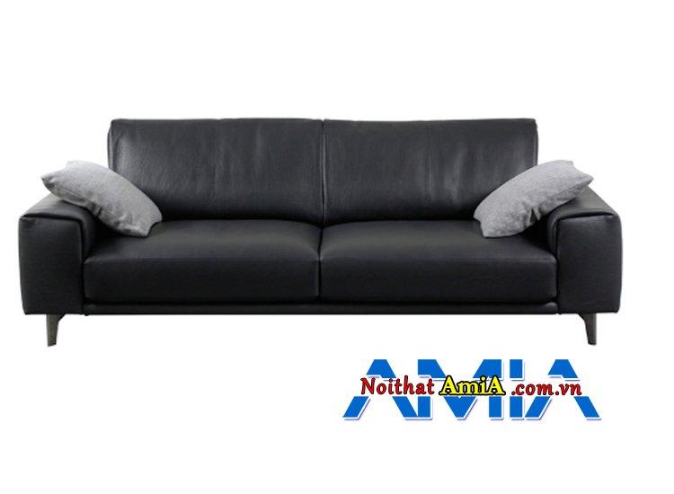 Hình ảnh ghế sofa da nhập khẩu Nhật Bản màu đen sang trọng
