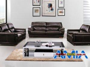 Bộ sofa da văn phòng sang trọng tựa thư giãn AmiA SF1992217