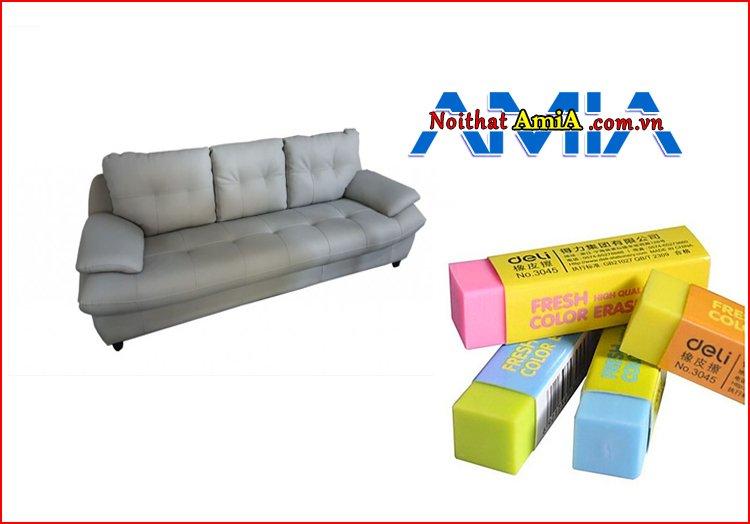 Cách vệ sinh sofa giả da bằng tẩy bút chì