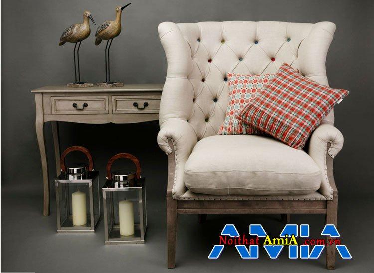 Ghế đơn tân cổ điển ấn tượng AmiA SFN19032020