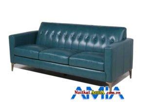ảnh ghế sofa da màu xanh rêu kích thước nhỏ AmiA SF1992160