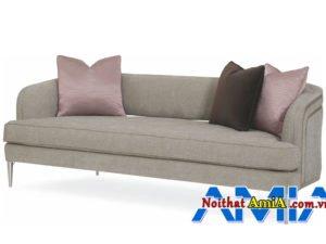 Ghế sofa tân cổ điển dạng văng AmiA Sofa văng da thiết kế tân cổ điển AmiA SFD22010