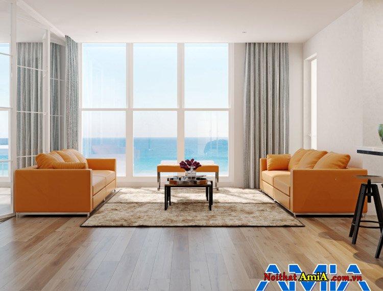 Hình ảnh mẫu ghế sofa văng ghép bộ hiện đại