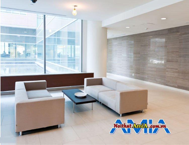 Hình ảnh mẫu sofa nỉ đẹp cho khách sạn sang trọng
