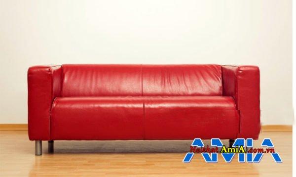 Sofa bọc da màu đỏ đẹp Hà Nội AmiA SFD030330301