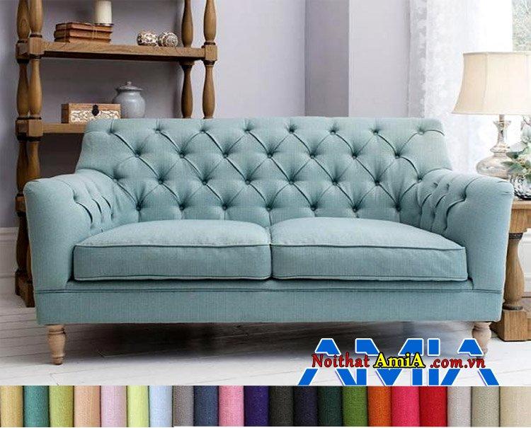 Hình ảnh mẫu sofa bọc nỉ nhập khẩu Hàn Quốc tân cổ điển
