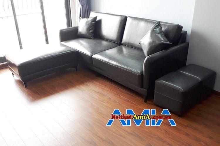 Chiếc ghế sofa da giá rẻ đẹp 2020 màu đen