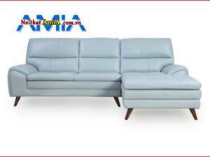 Ảnh mẫu sofa da giá rẻ xanh ngọc bích AmiA SF1992143