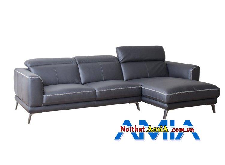 Hình ảnh Ghế sofa da nhập khẩu Nhật Bản góc L