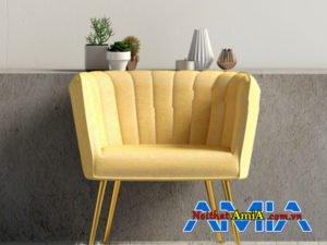 Sofa đơn màu vàng tân cổ điển AmiA SFN1903202017