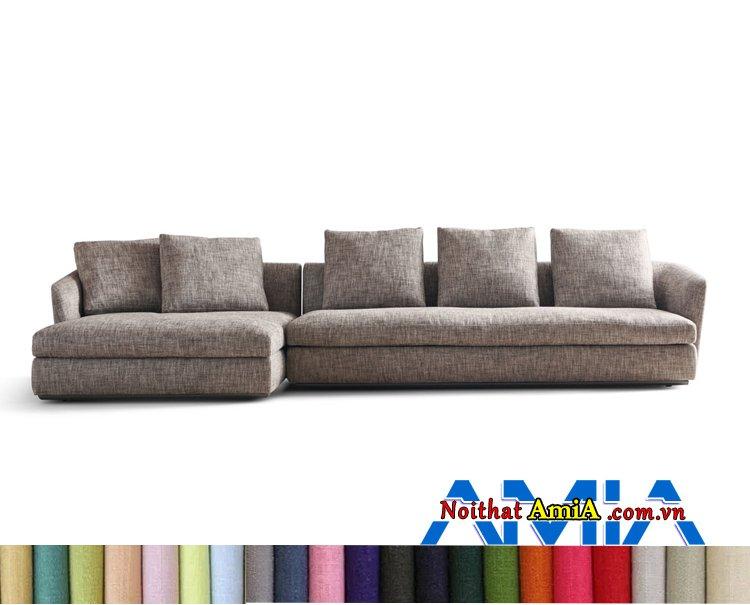 Mẫu ghế sofa Hàn Quốc bọc nỉ vải