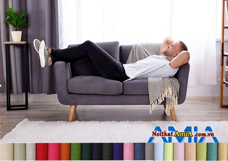 Mẫu ghế sofa nỉ nhập khẩu Malaysia đẹp hiện đại