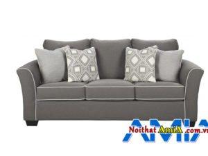 Sofa tân cổ điển dạng văng nỉ AmiA Sofa văng da thiết kế tân cổ điển AmiA SFD2205