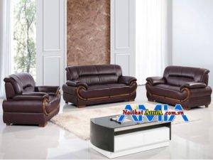 ghế sofa văn phòng giám đốc màu nâu AmiA SF1992229