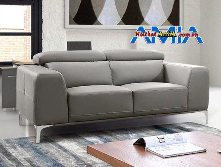 Hình ảnh Sofa văng da nhập khẩu Hàn Quốc màu ghi đẹp AmiA SF1992243