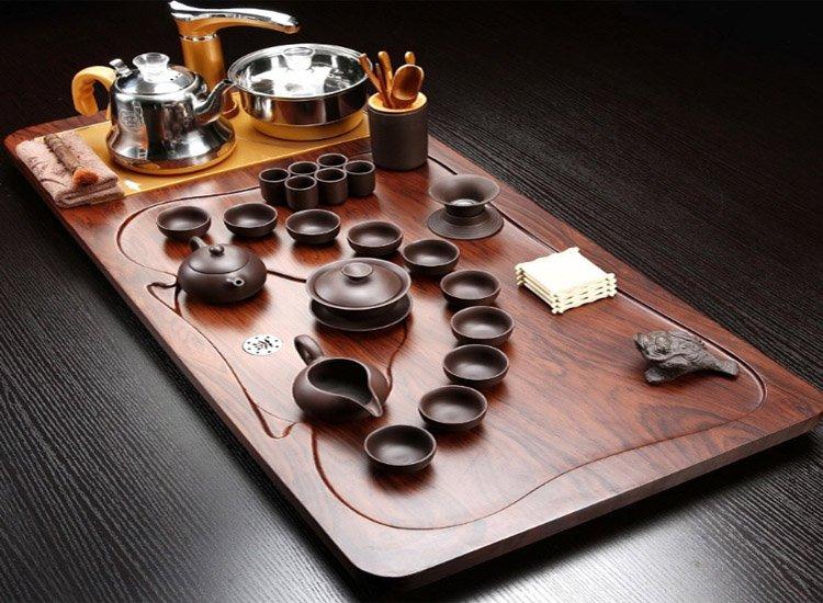 Mẫu bàn trà điện bằng gỗ giá rẻ