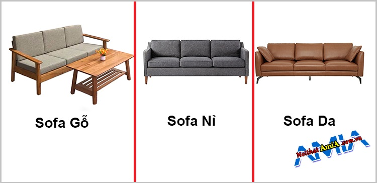Các chất liệu ghế sofa 3 chỗ phổ biến