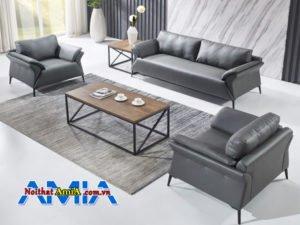 sofa bọc da hiện đại nhỏ gọn tiện lợi AmiA SF1992270