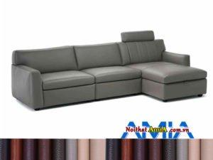 Sofa da góc nhỏ gọn giá rẻ