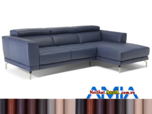 Sofa da hình L phòng khách