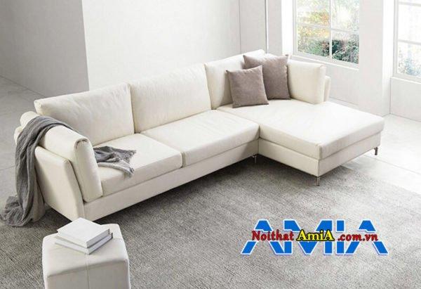 Sofa da phòng khách nhà phố