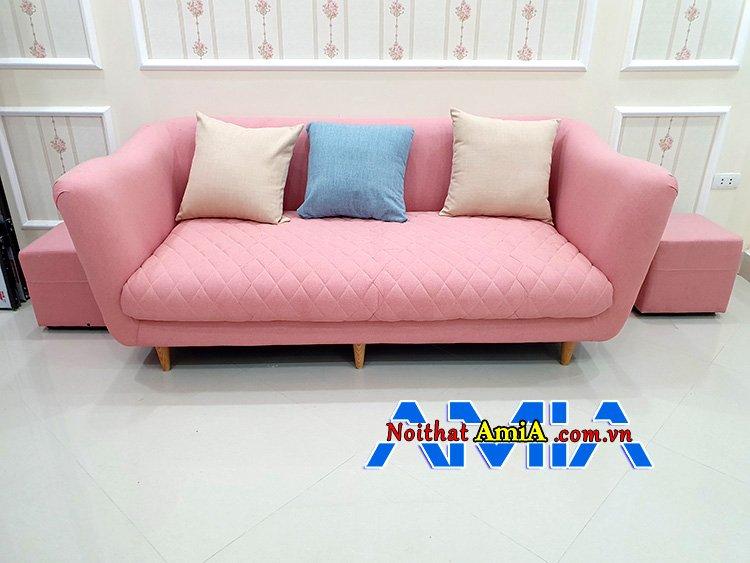 Mẫu sofa giá rẻ văng Hồng giá 6 triệu