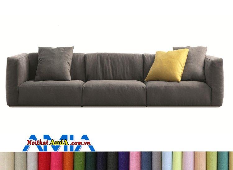 sofa nỉ 3 chỗ không chân